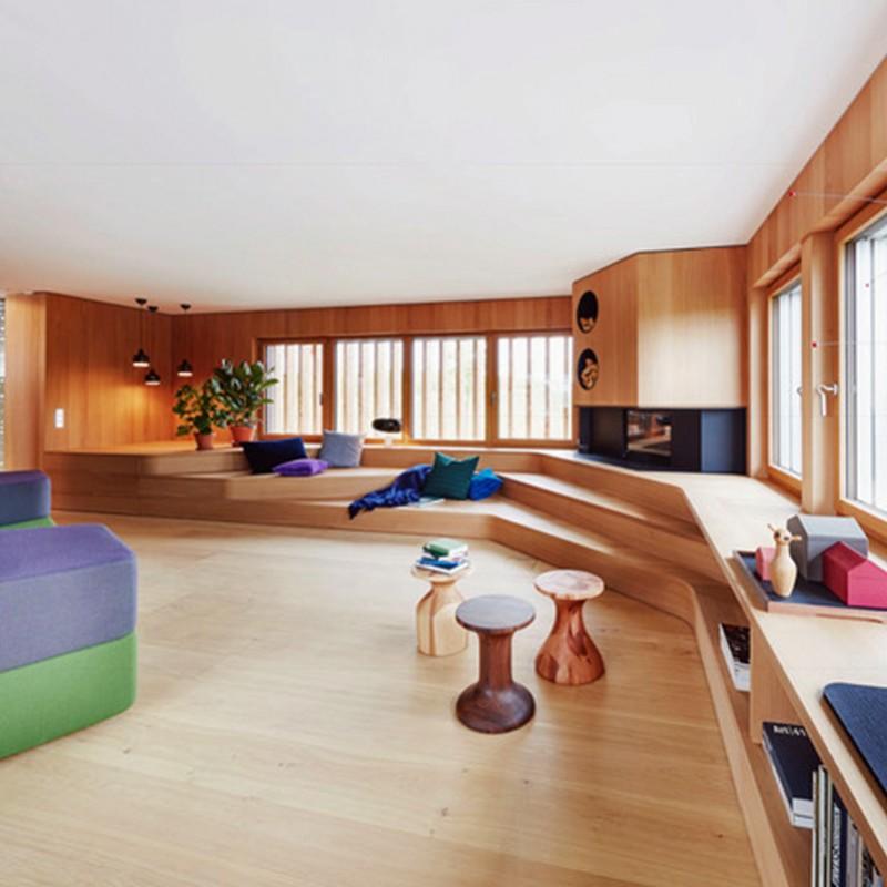 Hain Parkett I Designhaus Haussicht - Neue Dimensionen im Bauen mit Holz