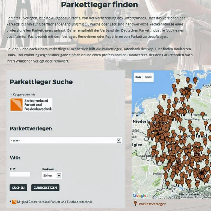 vdp-Parkettleger-Datenbank